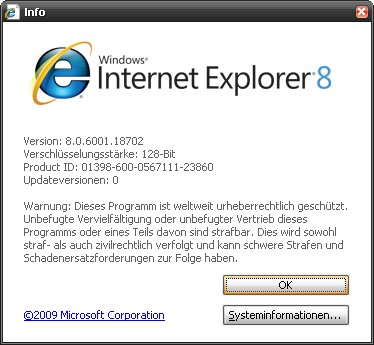 Internet Explorer Version